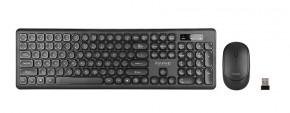 Set Marvo DCM003WE BK, klávesnice s bezdrátovou myší, US, černá