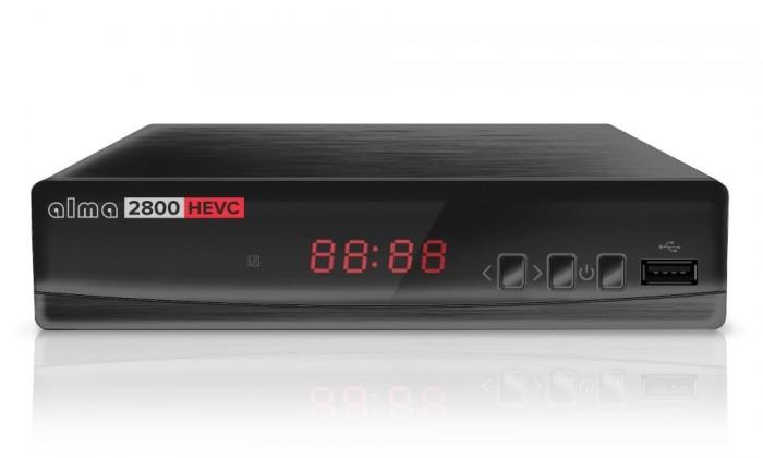 Set-top box ALMA DVB-T2 HD přijímač 2800 s kodekem HEVC