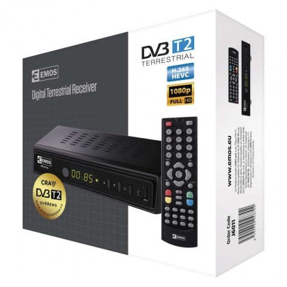 Set-top box DVB-T2 EMOS EM180 HD HEVC H265