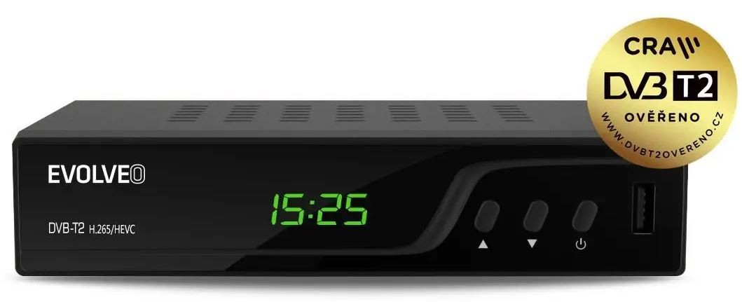 Set-top box EVOLVEO Omega T2, HD DVB-T2 H.265/HEVC multimediální rekordér