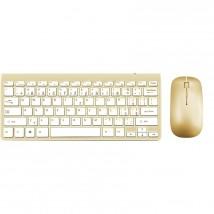 Set WG klávesnice + myš, bluetooth, zlatá POUŽITÉ, NEOPOTŘEBENÉ Z