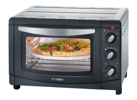 Severin TO 2061 Mini trouba - horký vzduch, grill a pizza kámen - ★ Dodatečná sleva v košíku 20%