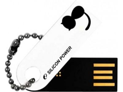 Silicon Power 4GB USB Flash disk Touch 820/Bílý
