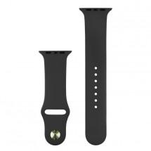 Silikonový sportovní řemínek pro Apple watch 38/40 mm, černá