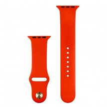 Silikonový sportovní řemínek pro Apple watch 38/40 mm, červená