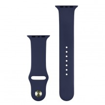 Silikonový sportovní řemínek pro Apple watch 38/40 mm, T modrá