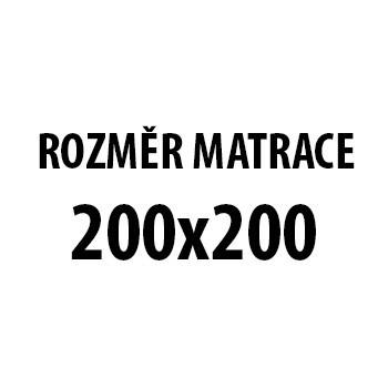 Silver Stone - Matrace (200x200x21, potah grey silver life)
