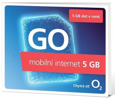 SIM karty Předplacený mobilní internet O2 SMALLGOOOV5GB GO, 5GB