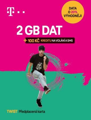 SIM karty T-Mobile Twist S námi 2GB