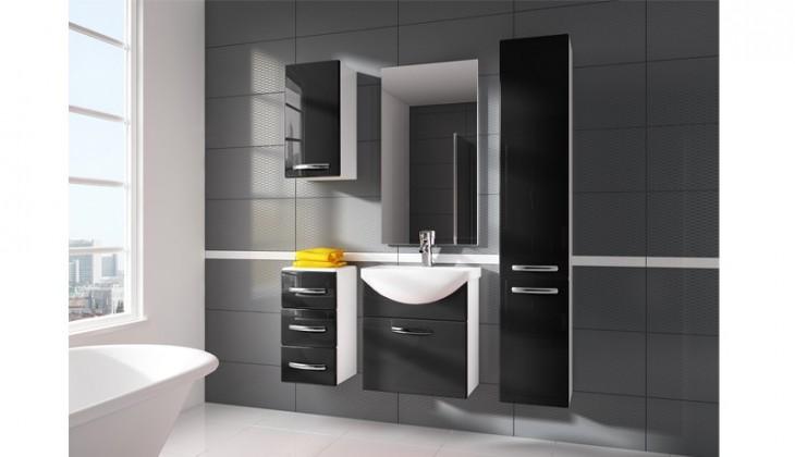 Siracusa - koupelnová sestava s umyvadlem (černá)