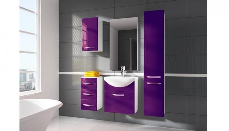 Siracusa - koupelnová sestava s umyvadlem (fialová)
