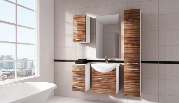 Siracusa - koupelnová sestava s umyvadlem (zebrano)
