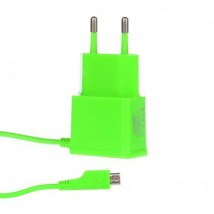 Síťová nab Micro USB 1A zelená