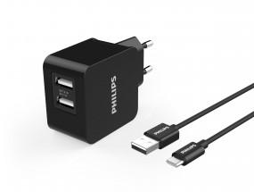 Síťová nabíječka se dvěma USB porty