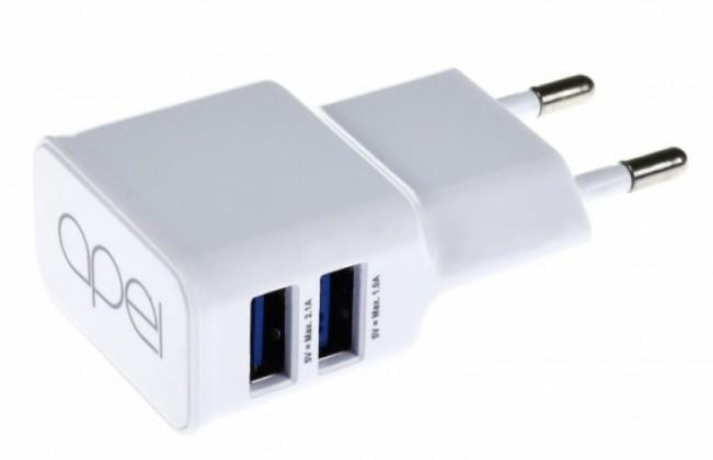 Síťové nabíječky (230V) Apei Fast Charge 2x USB adapter + 1x MicroUSB cable
