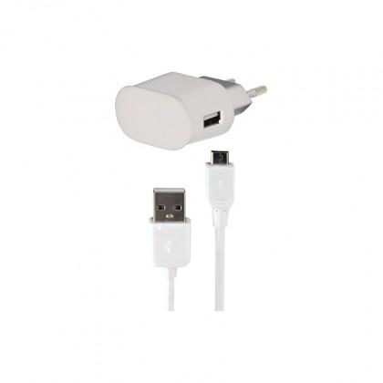 Síťové nabíječky (230V) Bigben Micro USB nabíjecí sada 1A do sítě, bílá