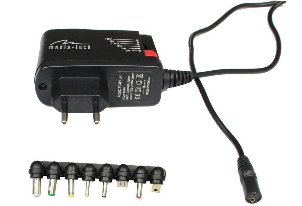 Síťové nabíječky (230V) Media-Tech MT-6267 univerzální adaptér