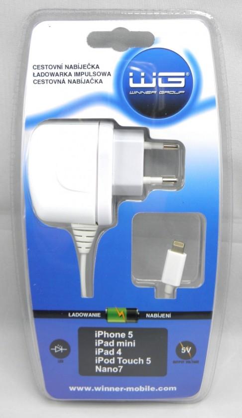 Síťové nabíječky (230V) Síťová nabíječka iPhone 5 wh, blistr