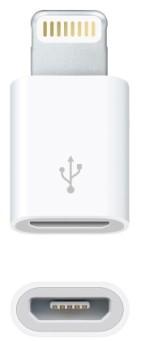 Síťové nabíječky (230V) Winneg Group adaptér micro usb na Iphone 6,bílý (WINADMICUSIP6)