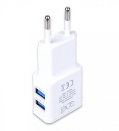Síťové nabíječky Nabíječka Apei 2xUSB 3,1A s rychlonabíjením + kabel USB Typ C