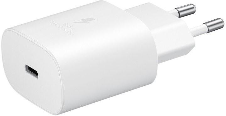 Síťové nabíječky Nabíječka Samsung 1x USB Typ C, 25W + kabel USB Typ C, bílá