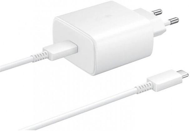 Síťové nabíječky Nabíječka Samsung 1x USB Typ C, 45W + kabel USB Typ C, bílá