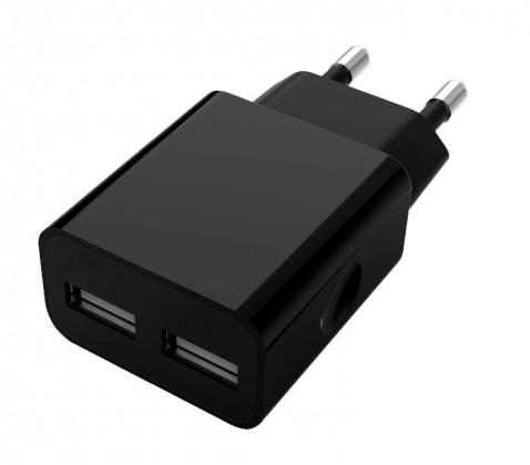 Síťové nabíječky Nabíječka WG 2xUSB 2,1A + kabel Lightning, černá