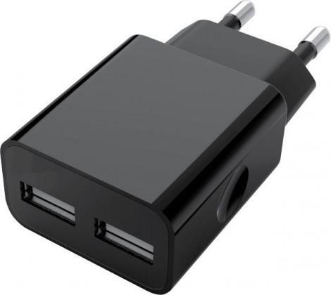 Síťové nabíječky Nabíječka WG 2xUSB 2,4A + kabel Lightning MFI, černá