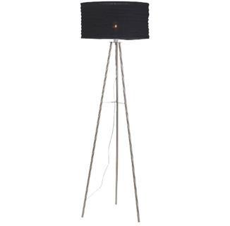 Skephult - Lampa podlahová (kov/textil/černá)