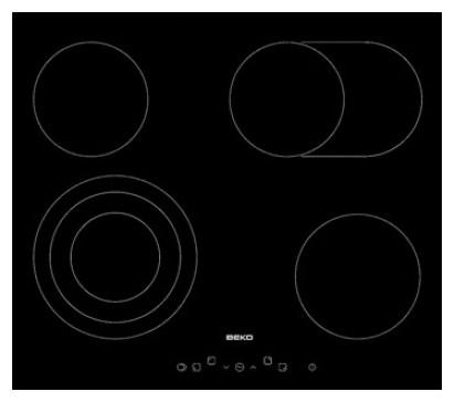Sklokeramická deska Beko HIC 64404T