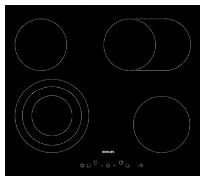 Sklokeramická deska Sklokeramická varná deska Beko HIC 64404T