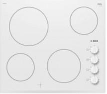 Sklokeramická varná deska Bosch, 4 zóny, 60cm, U-fazeta, bílá