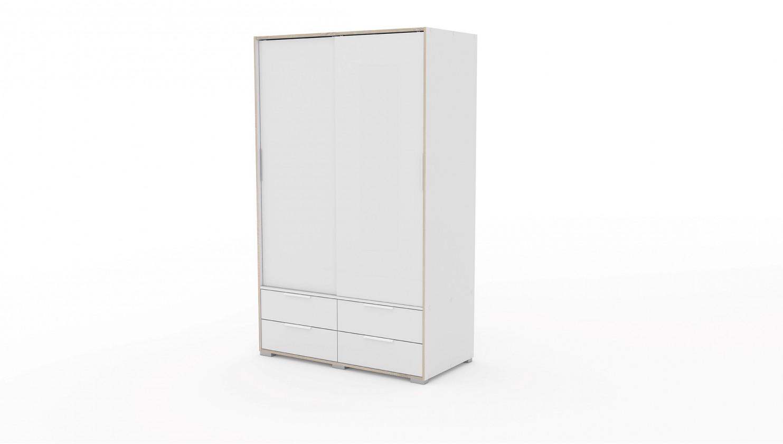 Skřín Line - skříň (bílá/bílá/dub)