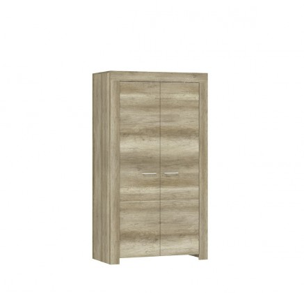 Skřín Obývací skříň Sky - 2x dveře, ABS (country šedá)