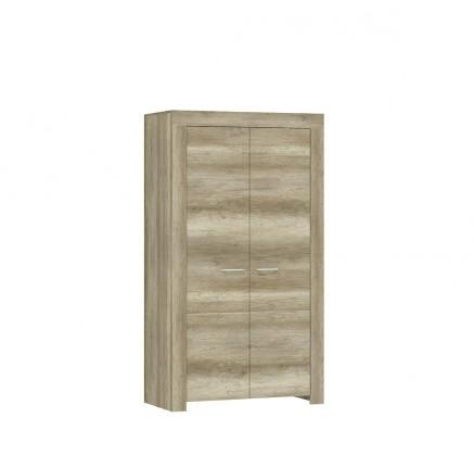 Skřín Sky - Skříň do obývacího pokoje, 2x dveře, ABS (country šedá)