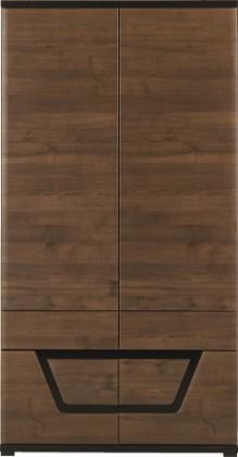 Skřín Tes - Skříň , 2x dveře (ořech, korpus a fronty)