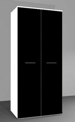 Skřín Univerzální skříň Uni (bílá/černá lesk)