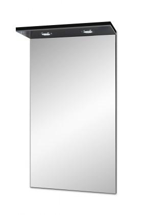 Skříňka nad umyvadlo Brisbane - zrcadlová skříň, s LED osvětlením (černá)
