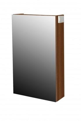 Skříňka nad umyvadlo Melbourne - Zrcadlová skříňka, panty vpravo (ořech/ořech)