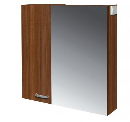 Skříňka nad umyvadlo Melbourne - Zrcadlová skříňka, zrcadlo vpravo (ořech/ořech)