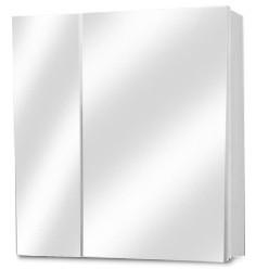 Skříňka nad umyvadlo Nice - Zrcadlová skříňka (bílá vysoký lesk)
