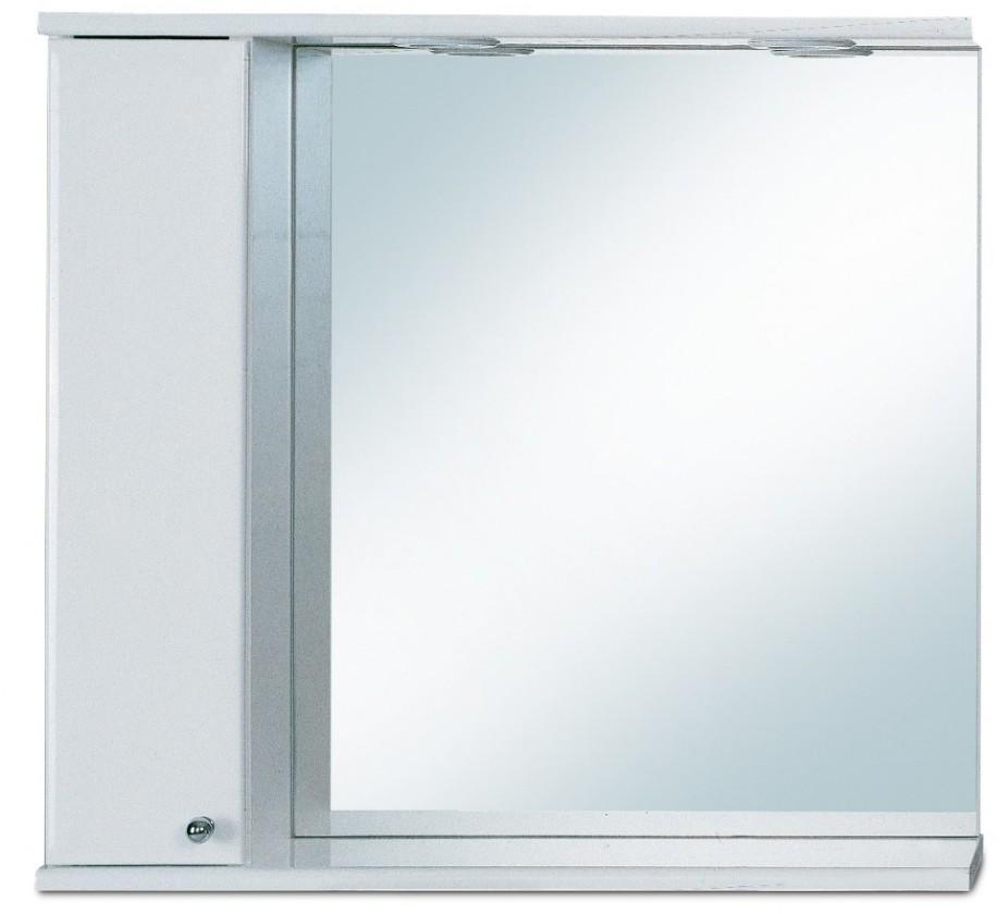 Skříňka nad umyvadlo Zrcadlová galerka G 249 s halogenovým osvětlením levá (zrcadlo)