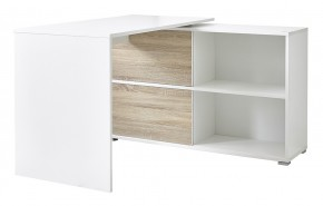 Slide - stůl se skříňkou (bílá/dub sonoma)