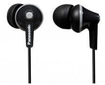 Sluchátka do uší Panasonic RP-HJE125E-K, černá
