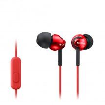 Sluchátka do uší Sony MDR-EX110AP, červená