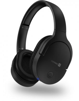Sluchátka přes hlavu Bezdrátová sluchátka Connect IT CHP-0500-BK