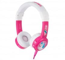 Sluchátka přes hlavu BuddyPhones Inflight, růžová