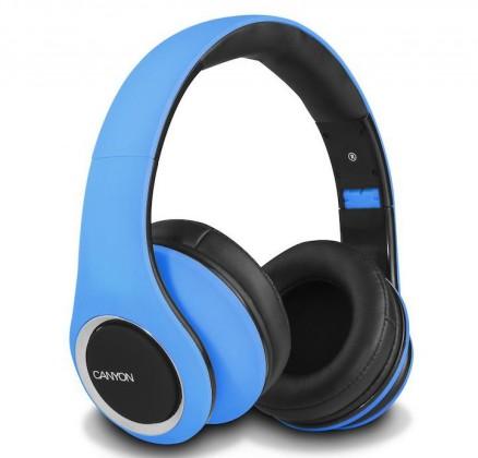 Sluchátka přes hlavu CANYON sluchátka stereo DJ, modrá