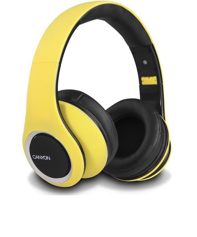 Sluchátka přes hlavu CANYON sluchátka stereo DJ, žlutá
