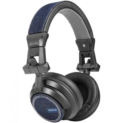 Sluchátka přes hlavu CANYON sluchátka uzavřená náhlavní, džínová modrá